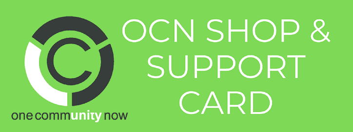 Shop & Support Card